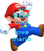 KEEP cool AND love mario - Personalised Poster A4 size