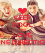 KEEP COOL AND LOVE ONE DIRECTION - Personalised Poster A4 size