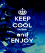 KEEP COOL SANAA and ENJOY - Personalised Poster A4 size