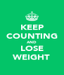 KEEP COUNTING AND LOSE WEIGHT - Personalised Poster A4 size
