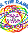 KEEP CRAZY AND LOVE LOOM BANDS - Personalised Poster A4 size