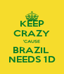 KEEP CRAZY 'CAUSE BRAZIL  NEEDS 1D - Personalised Poster A4 size