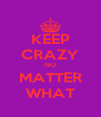 KEEP CRAZY NO MATTER WHAT - Personalised Poster A4 size
