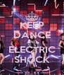 KEEP DANCE AND ELECTRIC SHOCK - Personalised Poster A4 size