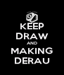 KEEP DRAW AND MAKING DERAU - Personalised Poster A4 size