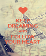KEEP DREAMING AND FOLLOW YOUR HEART - Personalised Poster A4 size