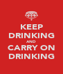 KEEP DRINKING AND CARRY ON DRINKING - Personalised Poster A4 size