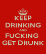 KEEP DRINKING AND FUCKING  GET DRUNK - Personalised Poster A4 size