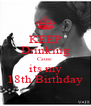 KEEP Drinking Cause  its my 18th Birthday - Personalised Poster A4 size