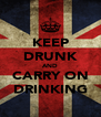 KEEP DRUNK AND CARRY ON DRINKING - Personalised Poster A4 size