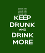 KEEP DRUNK AND DRINK MORE - Personalised Poster A4 size