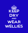 KEEP DRY AND WEAR WELLIES - Personalised Poster A4 size