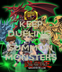 KEEP DUELING  AND SUMMON MONSTERS - Personalised Poster A4 size