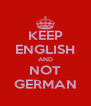 KEEP ENGLISH AND NOT GERMAN - Personalised Poster A4 size