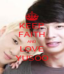 KEEP FAITH AND LOVE YUSOO - Personalised Poster A4 size