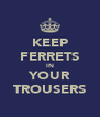 KEEP FERRETS IN YOUR TROUSERS - Personalised Poster A4 size