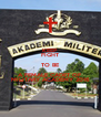 KEEP FIGHT TO BE A FEMALE CADET OF  MILITARY ACADEMY 2016 - Personalised Poster A4 size