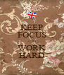 KEEP FOCUS AND WORK HARD - Personalised Poster A4 size