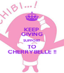 KEEP GIVING SUPPORT TO CHERRYBELLE !! - Personalised Poster A4 size