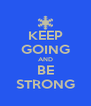 KEEP GOING AND BE STRONG - Personalised Poster A4 size