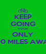 KEEP GOING YOUR ONLY 400 MILES AWAY - Personalised Poster A4 size