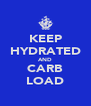 KEEP HYDRATED AND CARB LOAD - Personalised Poster A4 size