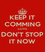 KEEP IT COMMING LOVE DON'T STOP IT NOW - Personalised Poster A4 size