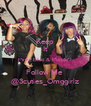 Keep It Pink, Blue & Purple ! Follow Me  @3cuties_Omggirlz - Personalised Poster A4 size