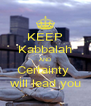 KEEP Kabbalah AND Certainty  will lead you - Personalised Poster A4 size