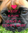 KEEP ; KALM  AND  LEAVE A  COMM, BABY - Personalised Poster A4 size