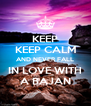 KEEP KEEP CALM AND NEVER FALL IN LOVE WITH A BAJAN - Personalised Poster A4 size
