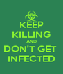 KEEP KILLING AND DON'T GET  INFECTED - Personalised Poster A4 size