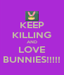 KEEP KILLING AND LOVE BUNNIES!!!!! - Personalised Poster A4 size