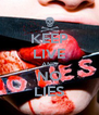 KEEP LIVE AND NO LIES - Personalised Poster A4 size