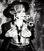 KEEP LIVING THAT THUG  LIFE - Personalised Poster A4 size