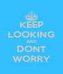 KEEP LOOKING AND DONT WORRY - Personalised Poster A4 size