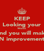 KEEP Looking your Worst And you will make N improvement - Personalised Poster A4 size