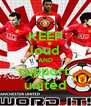 KEEP loud AND support  united - Personalised Poster A4 size