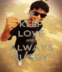 KEEP LOVE AND ALWAYS BUGGY - Personalised Poster A4 size