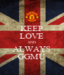 KEEP LOVE AND ALWAYS GGMU - Personalised Poster A4 size
