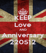 KEEP Love AND Anniversary 220512 - Personalised Poster A4 size