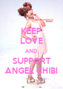 KEEP LOVE AND SUPPORT ANGEL CHIBI - Personalised Poster A4 size