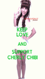 KEEP LOVE AND SUPPORT CHERLY CHIBI - Personalised Poster A4 size