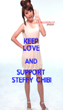 KEEP LOVE AND SUPPORT STEFFY CHIBI - Personalised Poster A4 size