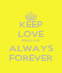 KEEP LOVE MEUTIA ALWAYS FOREVER - Personalised Poster A4 size