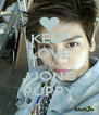 KEEP LOVE TO JJONG PUPPY - Personalised Poster A4 size
