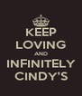 KEEP LOVING AND INFINITELY CINDY'S - Personalised Poster A4 size
