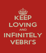 KEEP LOVING AND INFINITELY VEBRI'S - Personalised Poster A4 size