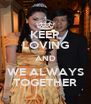 KEEP LOVING AND WE ALWAYS TOGETHER - Personalised Poster A4 size