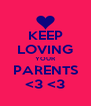 KEEP LOVING YOUR PARENTS <3 <3 - Personalised Poster A4 size